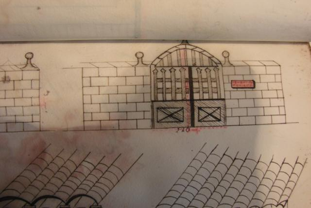 Cementiri de Tarroja: porta d'accés segons projecte de 1937